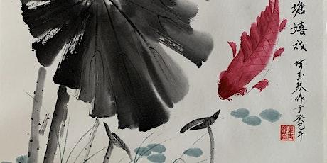 Chinese Brush Painting -Fish tickets