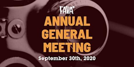 FAVA AGM 2020 tickets