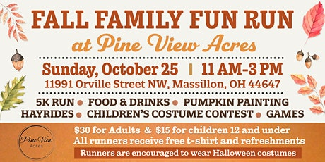 Fall Family Fun Run at Pine View Acres tickets