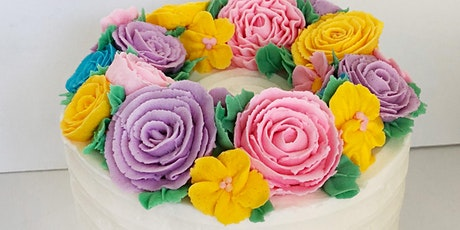 Buttercream Flowers - Christmas Wreath Cake @ Fran's Cake & Candy Supplies tickets