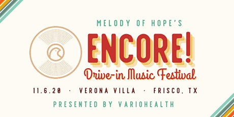Encore! Drive-In Music Festival - Abby Anderson Headliner! tickets