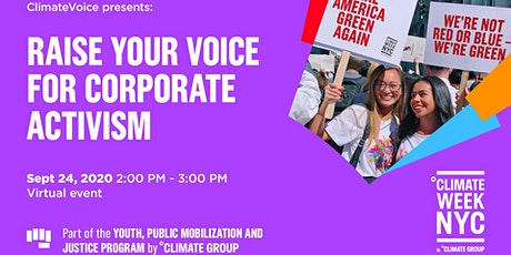 Climate Week NYC: Raise Your Voice For Corporate Activism tickets