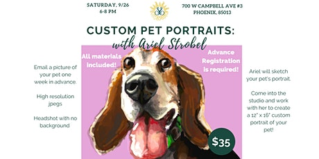 Custom Pet Portraits with Ariel Stobel: Learn how to paint your own pet! tickets