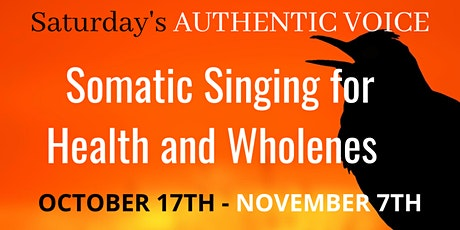 SATURDAY'S - Authentic  Singing Lessons/October tickets