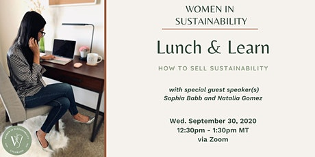 Women in Sustainability - How to Sell Sustainability tickets