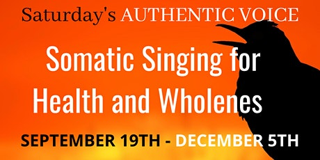 SATURDAY'S Authentic Singing Lessons - 12 WEEKS tickets