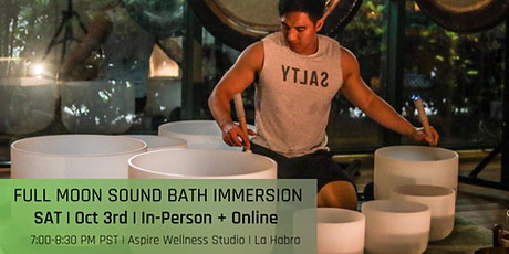 Full Moon Sound Bath Immersion (In-Person + Online) tickets