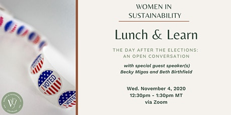 Women in Sustainability - The Day After Elections tickets