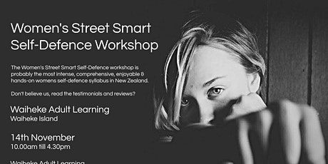 Women's Street Smart Self-Defence Workshop - Waiheke Island Nov 2020 tickets
