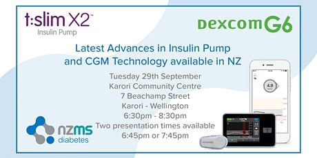 Introduction to Dexcom G6 and Tandem Basal IQ - Wellington tickets