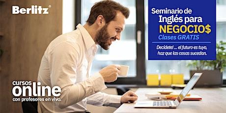 Webinar GRATIS!: Inglés para Negocios de 3 sesiones gratis en Sábados boletos