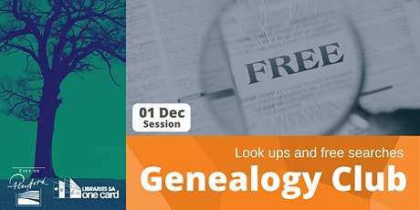 Genealogy Club: Look ups and free searches tickets