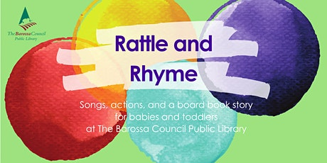 Barossa Libraries Rattle and Rhyme- Nuriootpa tickets