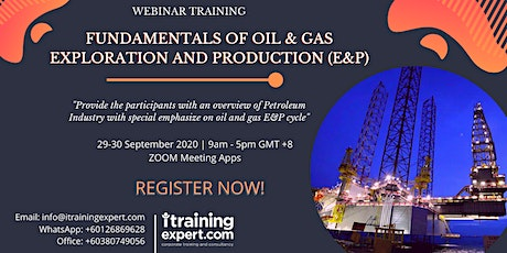 FUNDAMENTALS OF OIL & GAS EXPLORATION AND PRODUCTION (E&P) tickets