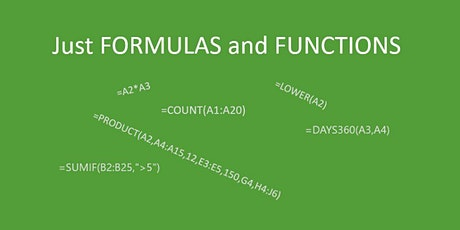 EXPRESSIONS OF INTEREST:  Excel Formulas and Functions tickets