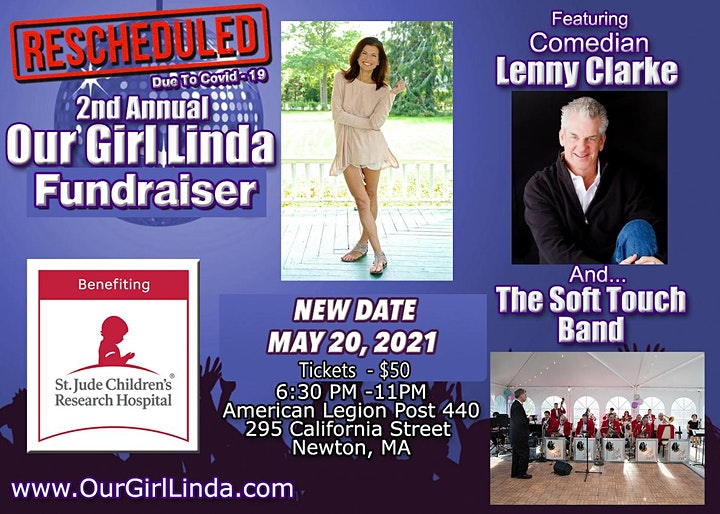 2nd Annual Our Girl Linda Fundraiser! - A Party To Benefit St. Jude! image