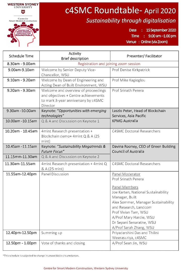 c4SMC Roundtable - Sustainability through Digitalisation image