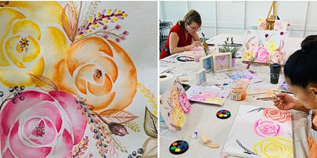 8-11y/o   Kids Watercolour Roses Class tickets