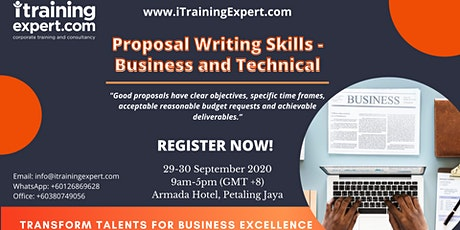 Proposal Writing Skills - Business and Technical tickets