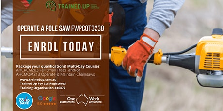 Operate a Pole Saw | Master Safe Pruning Technique & Maintenance FWPCOT3238 tickets