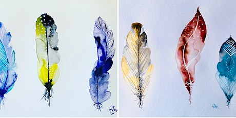 8-11y/o Kids Watercolour Feathers Class tickets