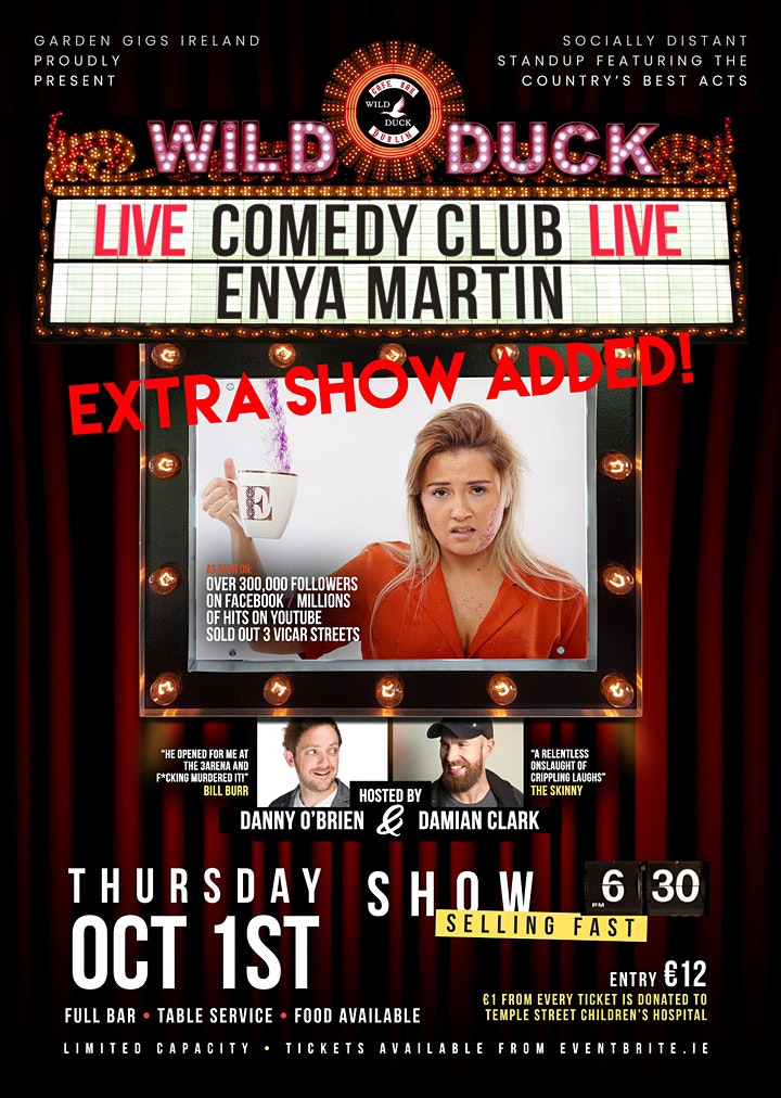Wild Duck Comedy Club Presents: Giz a Laugh's Enya Martin EXTRA SHOW ADDED! image