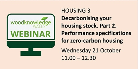 Housing Webinar 3: Decarbonising your housing stock (Part 2) tickets