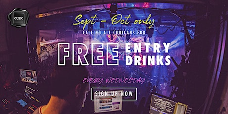 """Every WED""  Free Entry + Drinks before 12:30 AM (Sept - Oct only!) tickets"