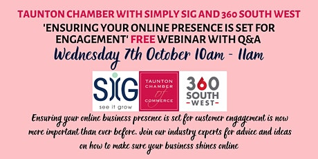 Ensuring your Online Presence is set for Engagement - FREE webinar with Q&A tickets