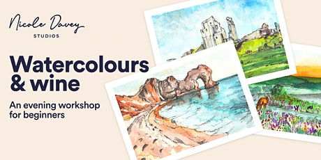 Watercolours & Wine: Postcard Landscapes workshop tickets