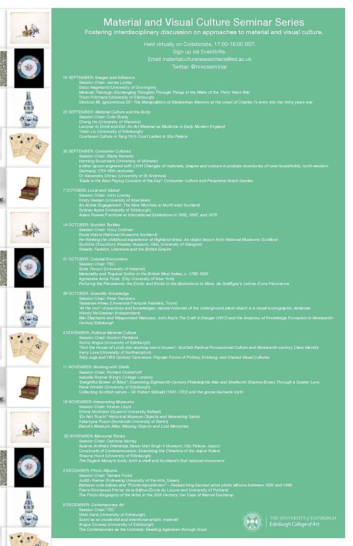 Material and Visual Culture Seminar Series image