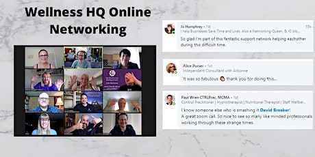 Wellness HQ Online Networking  29th  of September 2020 tickets