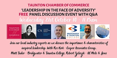 'Leadership in the Face of Adversity' - Expert Panel Discussion Event tickets