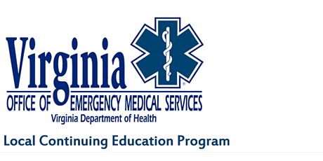 Virginia Office of EMS Category 1 CE class Airway/Cardiac Topics tickets