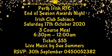 Perth Irish RFC End of Season Awards tickets