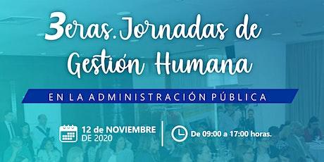 3eras. Jornadas de Gestión Humana en la Administración Pública entradas