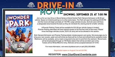 Drive-In Movie: Wonder Park tickets