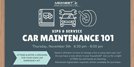 Sips & Service: Car Maintenance 101 tickets