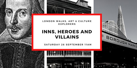 "SMALL GROUP WALK & GALLERY VISIT ""INNS, HEROES & VILLIANS"" WITH GUIDE tickets"