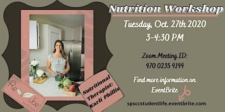 Nutrition Workshop tickets
