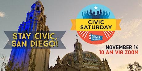 "Civic Saturday San Diego 11/14: ""American as an argument"" tickets"