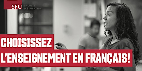 SFU Professional Development Program -  module français - séance d'info tickets