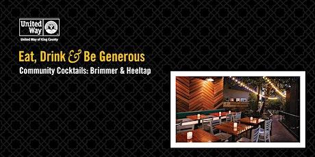 Community Cocktails - Brimmer & Heeltap tickets