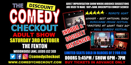 Adult Comedy Show at the Fenton Leeds - 6pm - 7pm show tickets
