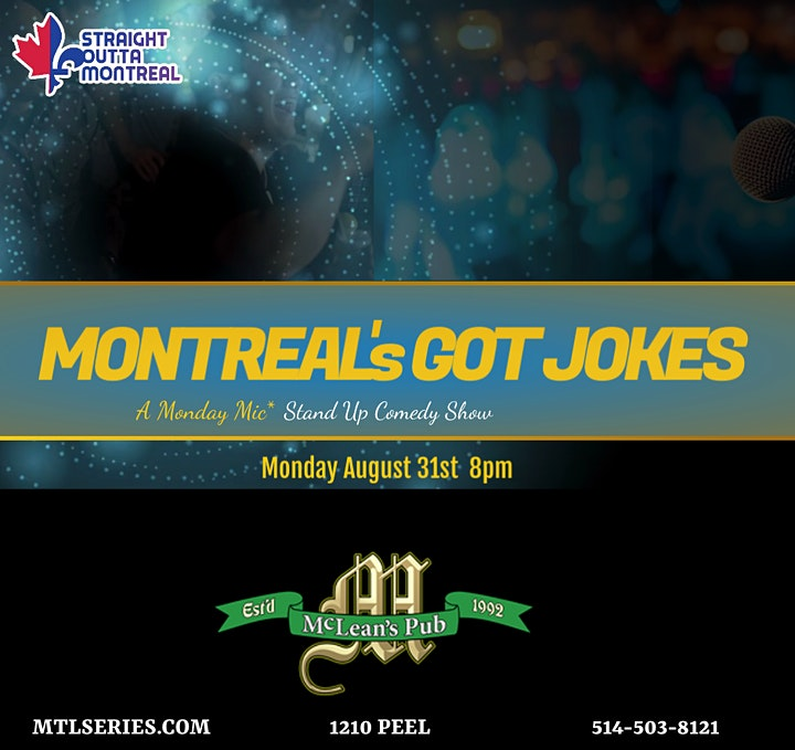 Montreal's Got Jokes ( Stand Up Comedy Show ) Montrealcomedyseries.com image