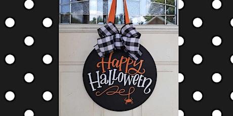 Happy Halloween Round Hanging Door Sign tickets