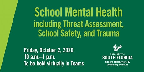 School Mental Health including Threat Assessment, School Safety, and Trauma tickets