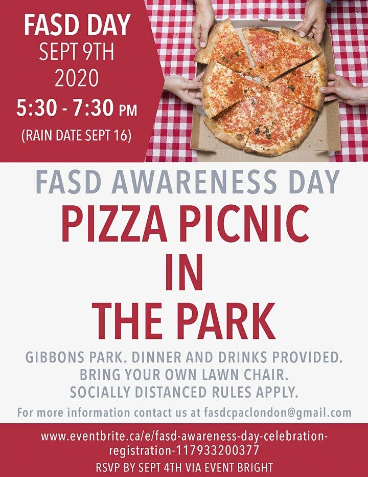 FASD Awareness Day Pizza Picnic in the Park! image