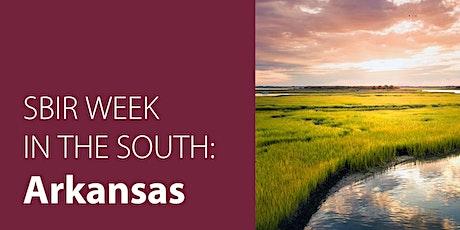 SBIR Week in the South: Arkansas tickets