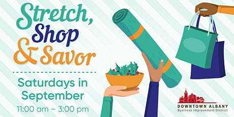 Stretch, Shop & Savor Yoga tickets